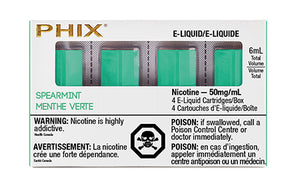 PHIX Pods Spearmint by MLV Toronto GTA Vaughan Ontario Canada Wicks & Wires Vape Shoppe
