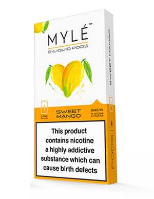 Sweet Mango Myle Pods by Myle Toronto GTA Vaughan Ontario Canada | Wicks & Wires Vape Shoppe