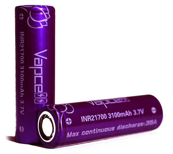 21700 3100mAh 35A Purple Battery Samsung 30T Rewrap by Vapcell Toronto Ontario Canada Wicks & Wires Vape Shoppe
