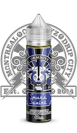 Smur's Squirt by Ohmboyz Drip City Salts Toronto GTA Vaughan Ontario Canada Wicks & Wires Vape Shoppe