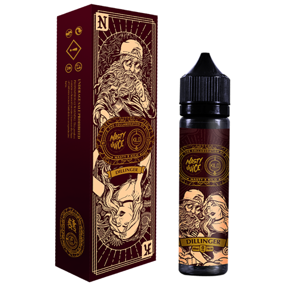 Dillinger by Nasty Juice x Kilo Toronto Ontario Canada Wicks & Wires Vape Shoppe