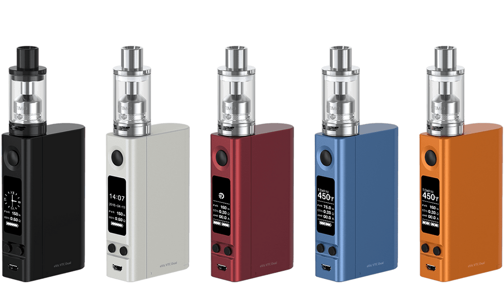 eVic VTC Dual with Ultimo Tank Starter Kit by Joyetech Toronto Ontario Canada Wicks & Wires Vape Shoppe