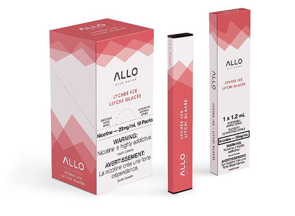 Lychee Ice by Allo Vapor Toronto GTA Vaughan Ontario Canada Wicks & Wires Vape Shoppe