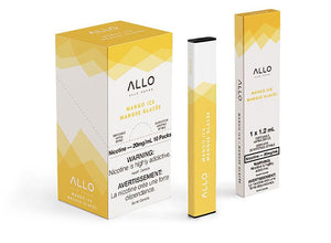 Mango Ice by Allo Vapor Toronto GTA Vaughan Ontario Canada Wicks & Wires Vape Shoppe