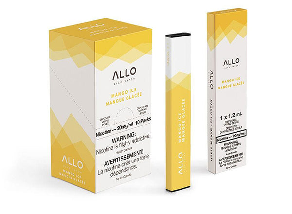 Mango Ice by Allo Vapor Toronto GTA Vaughan Ontario Canada | Wicks & Wires Vape Shoppe