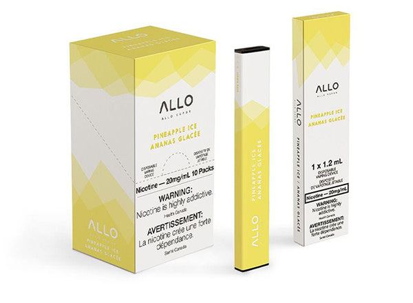 Pineapple Ice by Allo Vapor Toronto GTA Vaughan Ontario Canada Wicks & Wires Vape Shoppe