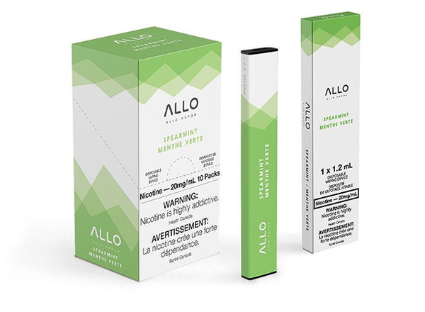 Spearmint by Allo Vapor Toronto GTA Vaughan Ontario Canada Wicks & Wires Vape Shoppe