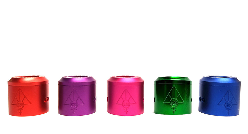 Anodized Colored Caps for the Goon RDA Toronto Ontario Canada Wicks & Wires Vape Shoppe