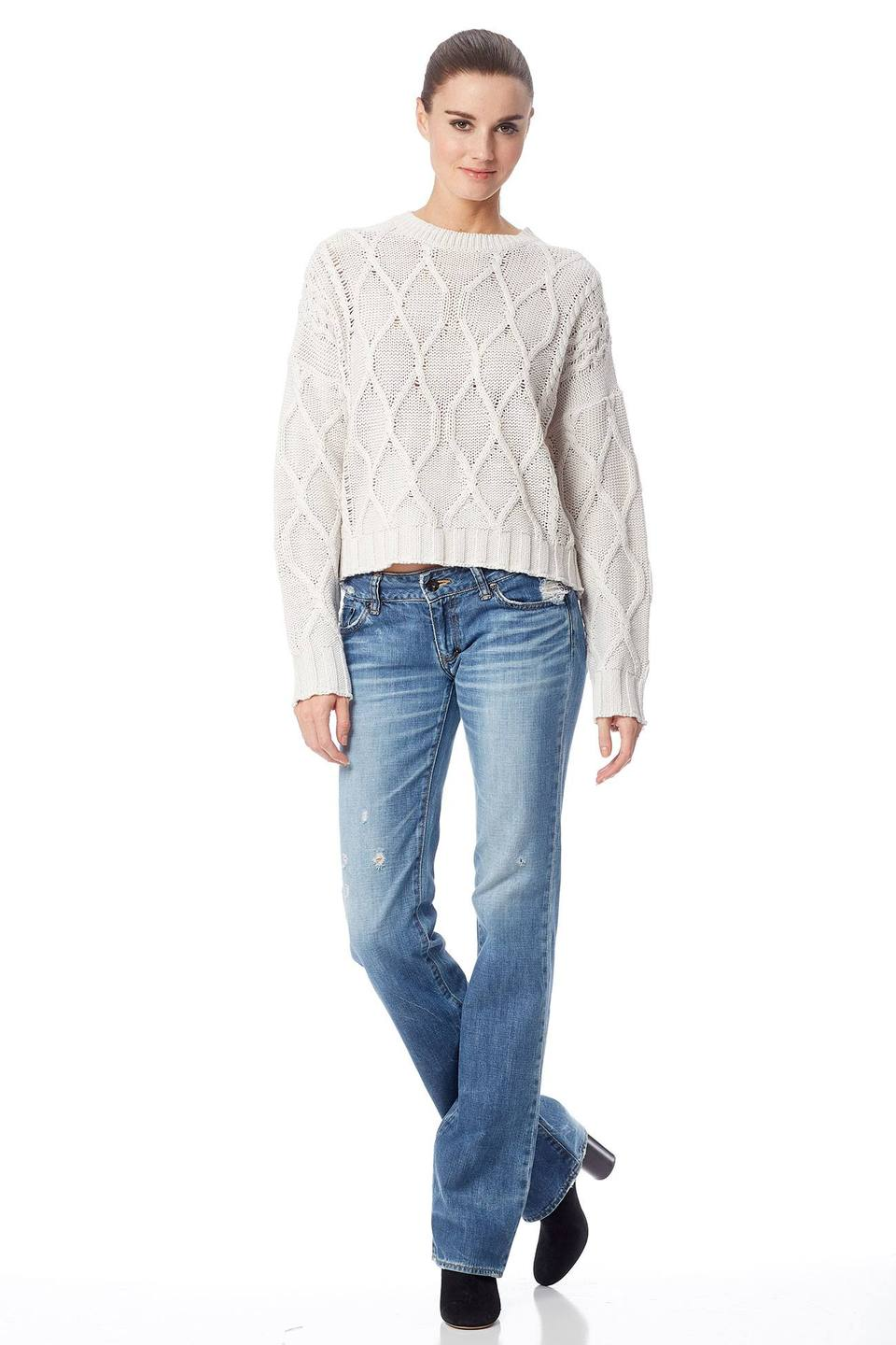 360 SWEATER 36154 alice cable cropped crew
