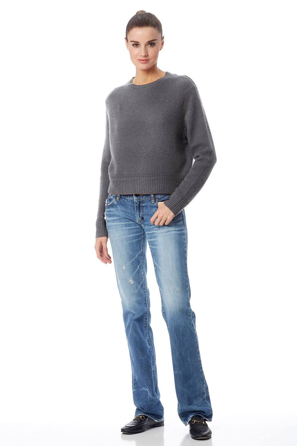 360 SWEATER 36223 mariana cropped crew