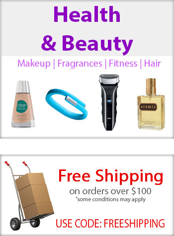 Health and Beauty Makeup Fragrances Fitness Hair Free Shipping on orders over $100 use code free shipping