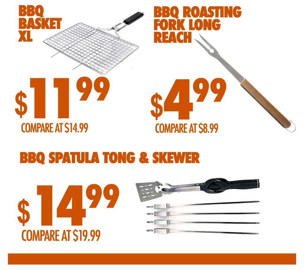 BBQ ACCESOIRES  STARTING $4.99