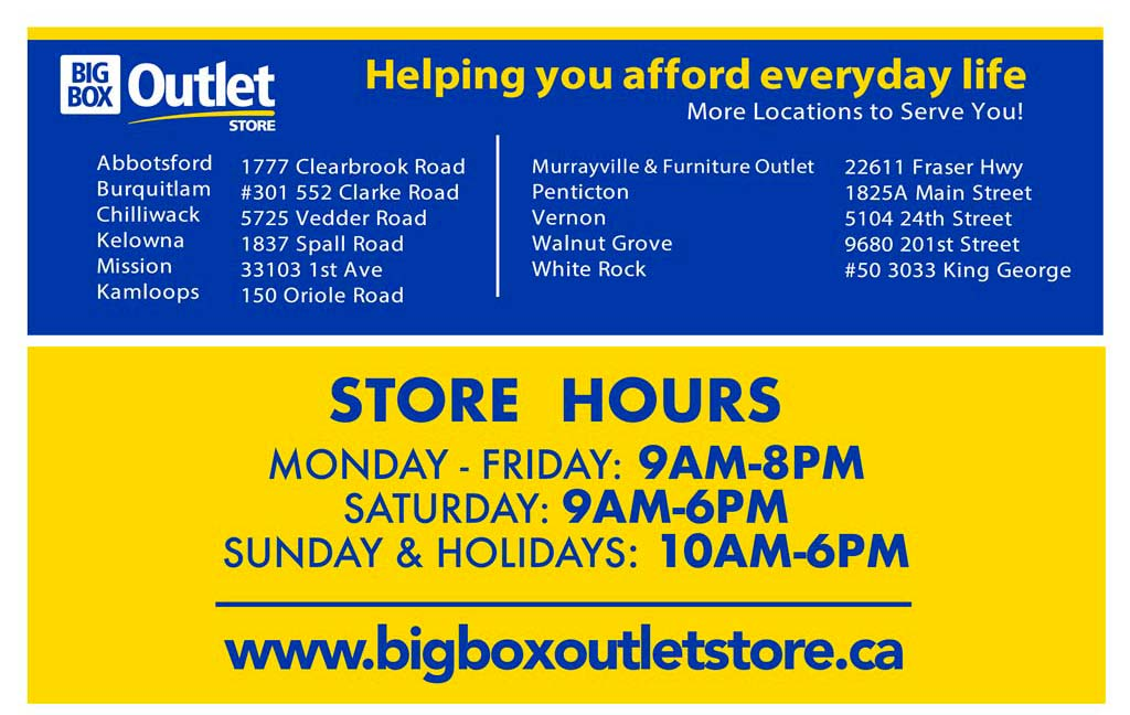 BIG BOX OUTLET STORE HOURS AND LOCATIONS