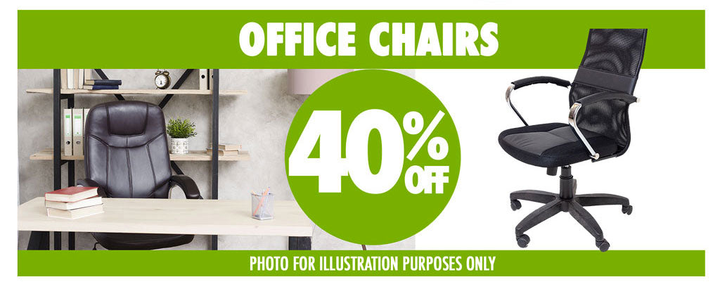 OFFICE CHAIRS 40%OFF