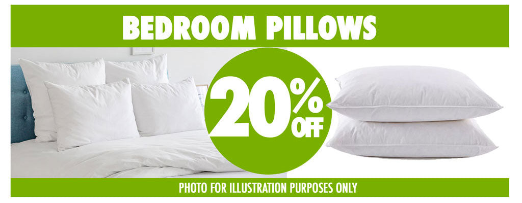BEDROOM PILLOWS 20%OFF