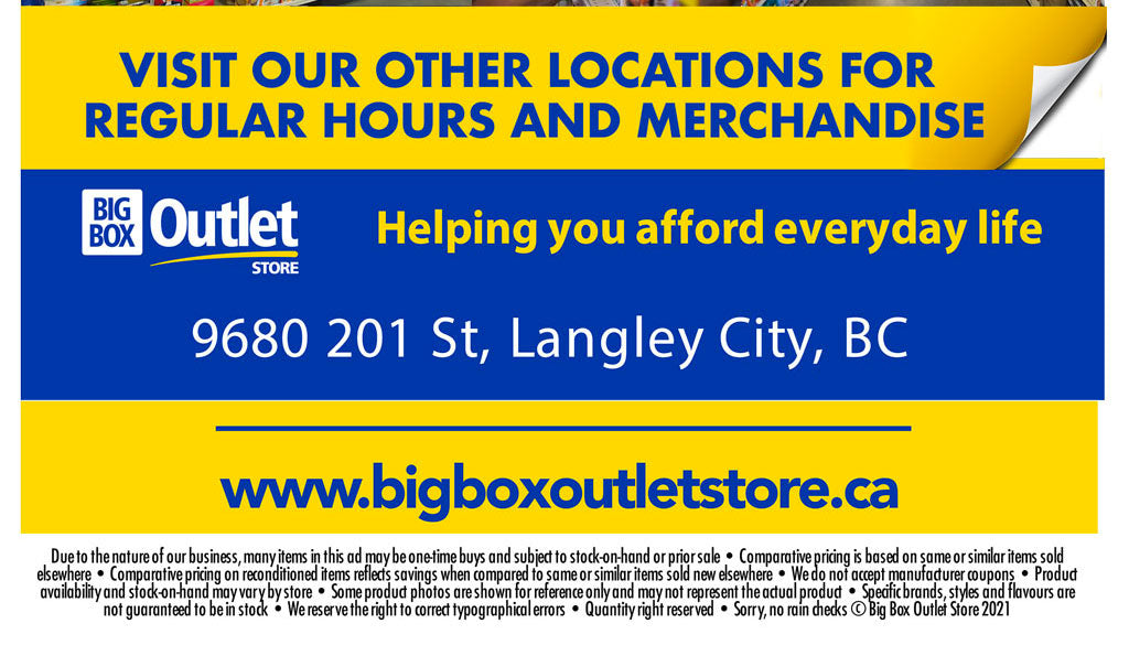 VISIT OUR OTHER LOCATIONS FOR REGULAR HOURS AND MERCHANDISE