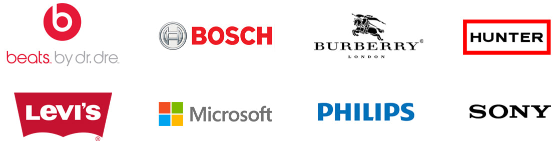 some brands we carry including beats by dre, bosch, burberry, hunter, levi's, microsoft, philips, and sony