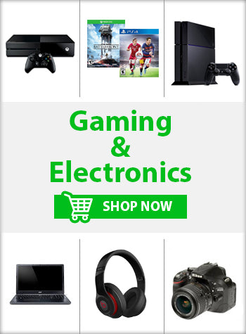 Gaming and Electronics Consoles Games Computers Music Cameras Accessories