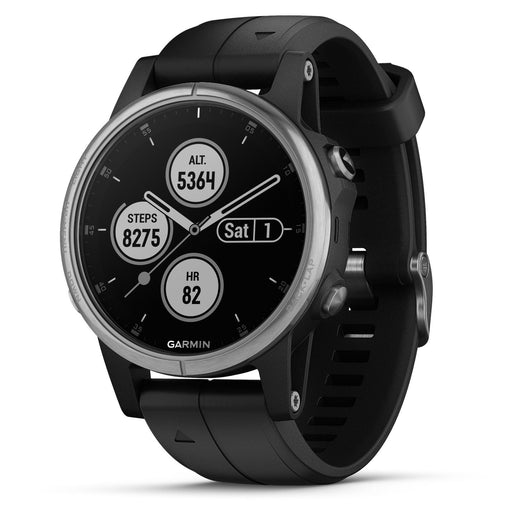 Garmin Fenix 5S Plus Glass Compact Multisport Watch with Music, Maps, and Garmin Pay *MISSING CHARGER* *UNTESTED*