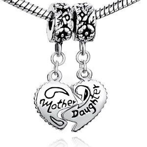 Pugster Charmed Craft Mother Daughter Puzzle Heart Charm
