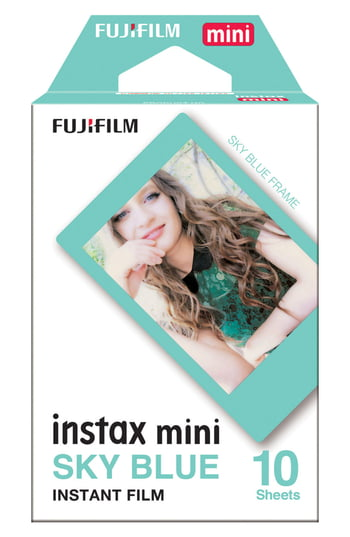 Fujifilm Instax Mini Sky Blue Frame Instant Film, Size One Size - Blue *Past Date*