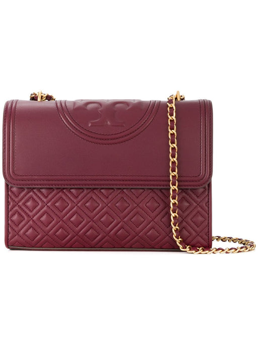 Tory Burch Fleming Satchel- Maroon
