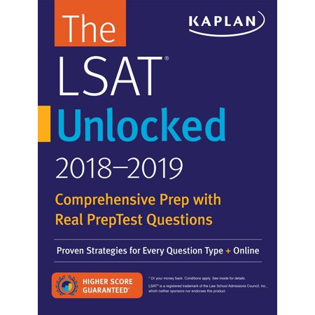LSAT Unlocked 2018-2019: Proven Strategies For Every Question Type + Online Paperback