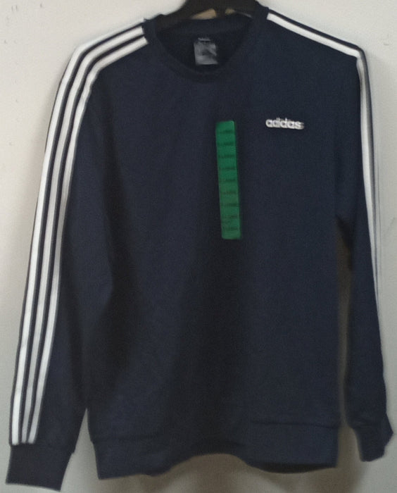 adidas Men's Essentials 3-stripes Fleece Crew Sweatshirt - Size: XL J-5