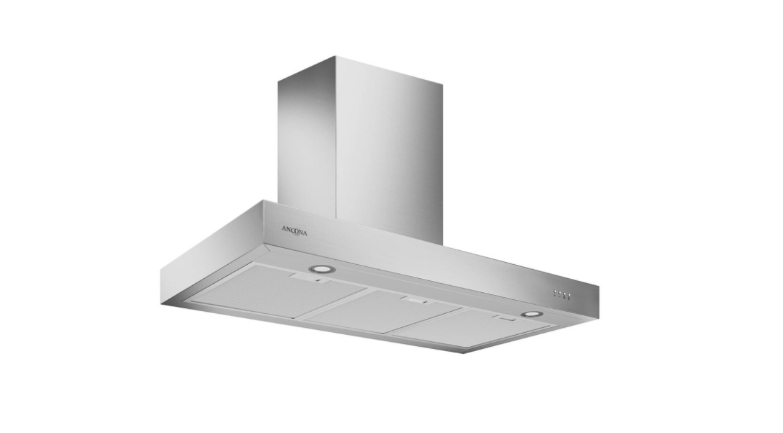Ancona Forza 36 LED 36 in. Convertible Wall Mount Range Hood with LED in Stainless Steel