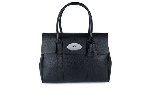 Iconic Mulberry Bayswater Small Classic Grain with Nickel, Black
