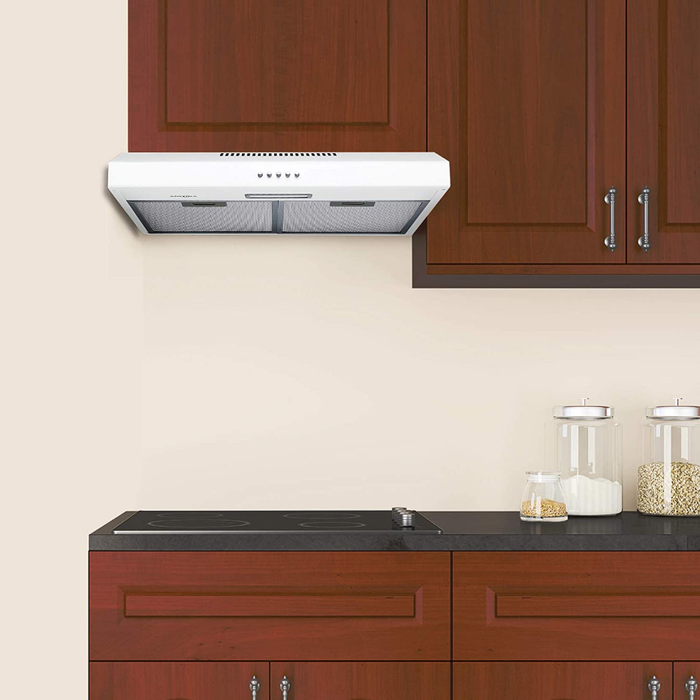 Ancona AN-1800 24 in. Under Cabinet Convertible Range Hood, White