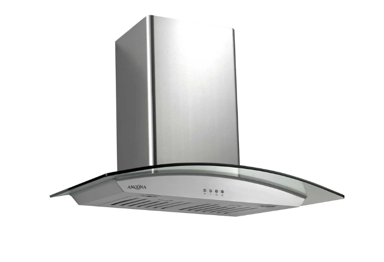 "Ancona AN-1153 GCP536 36"" Glass Canopy Wall Mount Range Hood"