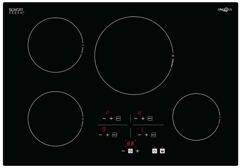 Ancona AN-2401 Elite 30 in. Black Glass-Ceramic Induction Cooktop *Out of Box/Minor Wear*