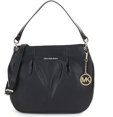 MICHAEL Michael Kors Bedford Black Leather Large Convertible Shoulder Bag
