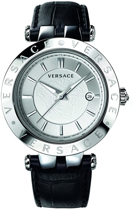 Versace Men's VQP010015 V-Race Black Stainless Steel Watch **AS-IS; FINAL SALE**