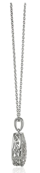 Sterling Silver and Diamond Teardrop Dancing Pendant Necklace (1/5cttw, I-J Color, I3 Clarity), 18""