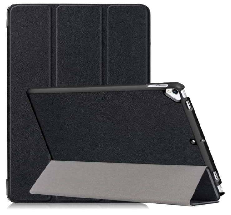 DETUOSI Designed for iPad 10.2 Case 2019, New iPad 7th Generation Case with Stand,【Auto Wake/Sleep Feature】 Multi-Angle Viewing Slim Hard Back Smart Cover for iPad 10.2 Inch, iPad 7th Gen 2019 Black