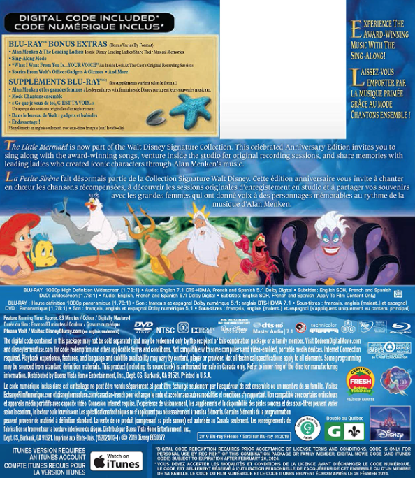 The Little Mermaid [Blu-ray] (Bilingual)