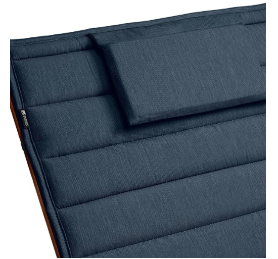 "Classic Accessories Storigami Water-Resistant 182 x 53 cm Chaise Lounge Cushion, Heather Indigo, 72"" L x 21"" W"