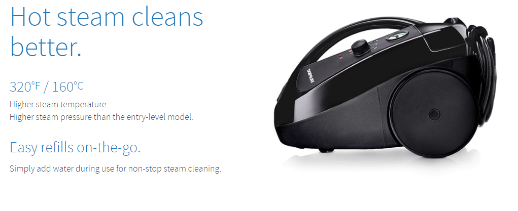 DUPRAY ONE Plus™ steam cleaner *Certified Good*