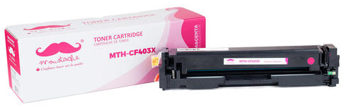 Compatible HP 201X CF402X Magenta Toner Cartridge High Yield - Moustache® - 1/Pack