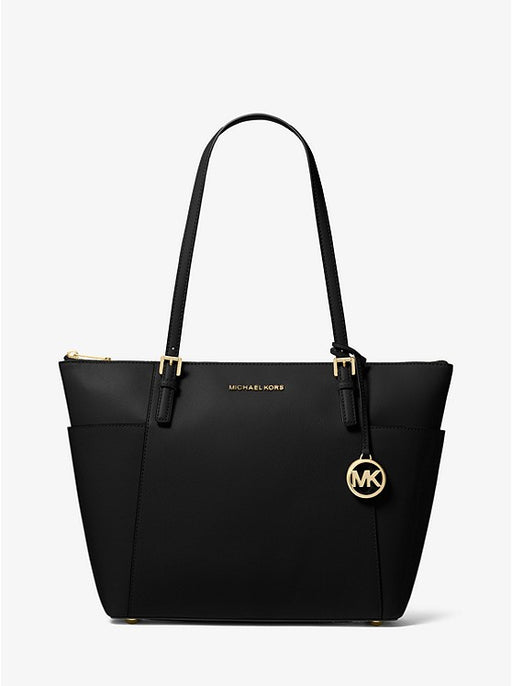 Michael Kors Jet Set Large Top-Zip Saffiano Leather Tote *Wear on Handle*
