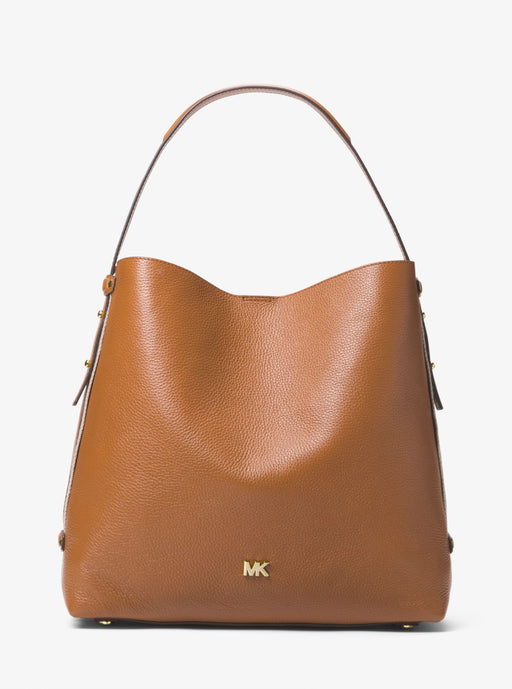 Michael Kors Griffin Large Leather Shoulder Bag Acorn *AS-IS/SEE DETAILS*