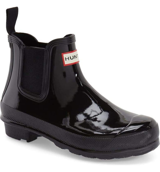 Hunter 'Original Chelsea' Rain Women's Boot (Gloss) - Black [US 8 M]