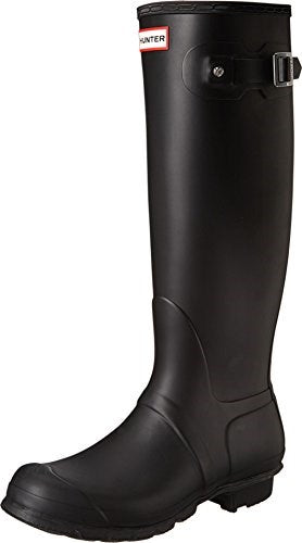 Hunter 'Original Tall' Rain Women's Boot (Matte) - Black [Size 5 M]