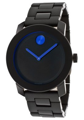 Movado Men's Bold 3600099 Black Stainless-Steel Swiss Quartz Watch
