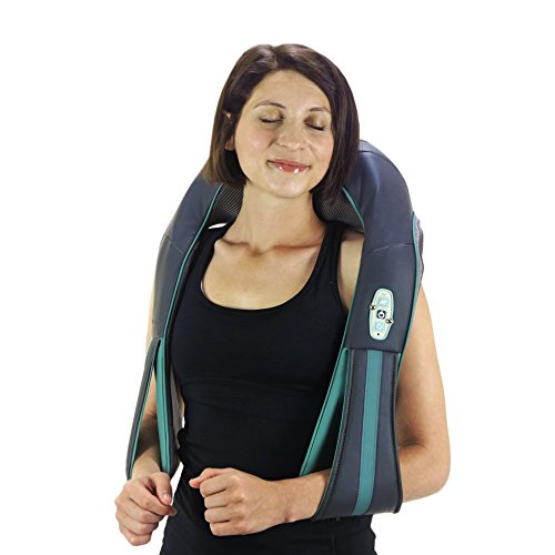 InstaShiatsu+ Neck, Shoulder & Full Body Massager With Heat, Model, Cordless & Rechargeable, Use At Home & Office, By TruMedic