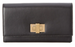 Fendi Peekaboo Double Flap Bo-Color Leather Continental Wallet - Nero/Tortor/Oro Soft *Visible Wear*