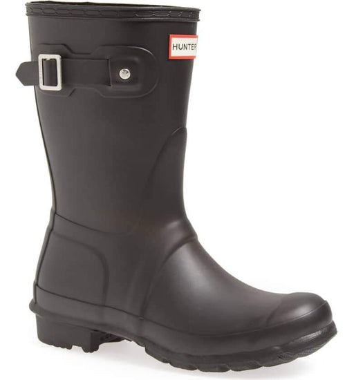 Hunter 'Original Short' Rain Women's Boot (Matte) - Black [US 8 M]