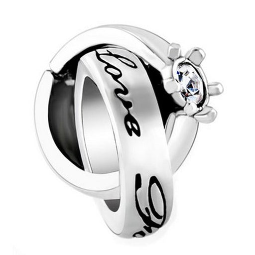 Pugster Intertwined Love You Forever Ring Charm